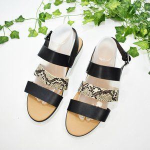 Rouge Helium faux reptile skin strap sandals 11